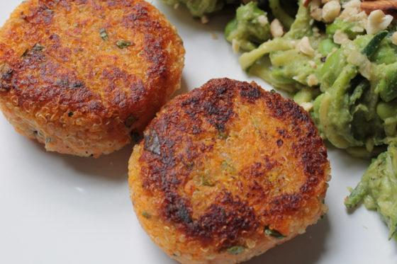 sweet potato and quinoa patties recipe vegetarian