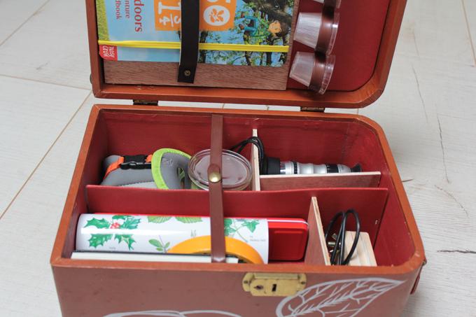 a homemade nature explorers kit for children