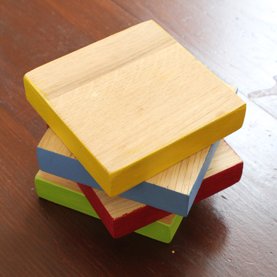 how to make your own chunky wooden coasters