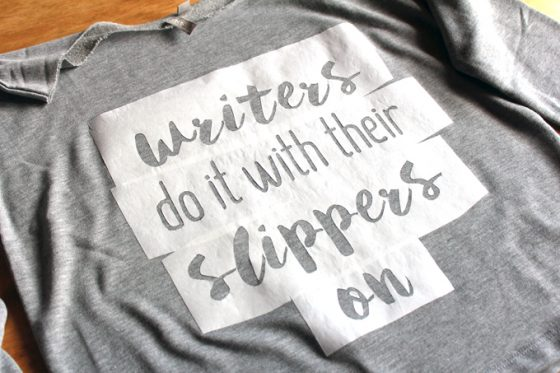 make a phrase sweatshirt with no screen printing needed