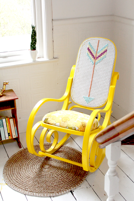 upcycle an old cane chair