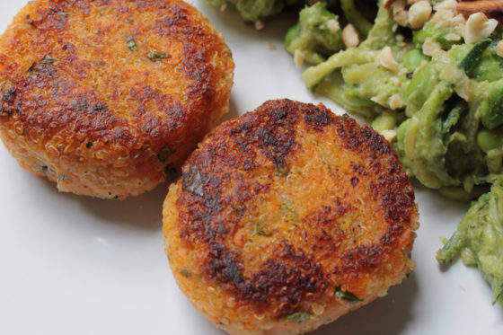 sweet potato and quinoa patties recipe vegetarian