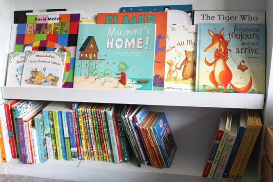 a book case for homeschool