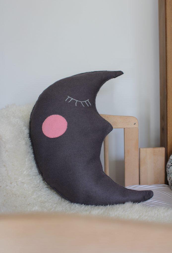 a felt moon cushion baby interiors diy