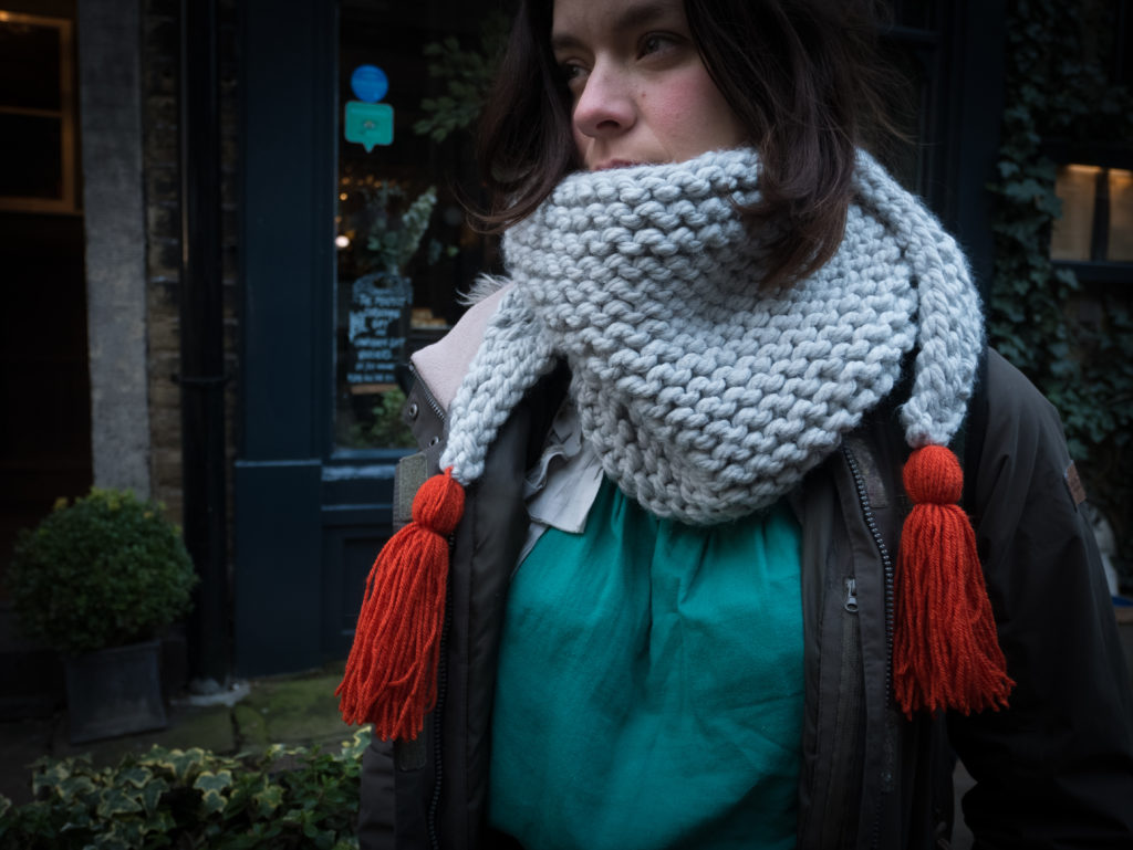 how to knit a triangle scarf begginners knitting free pattern craft making winter