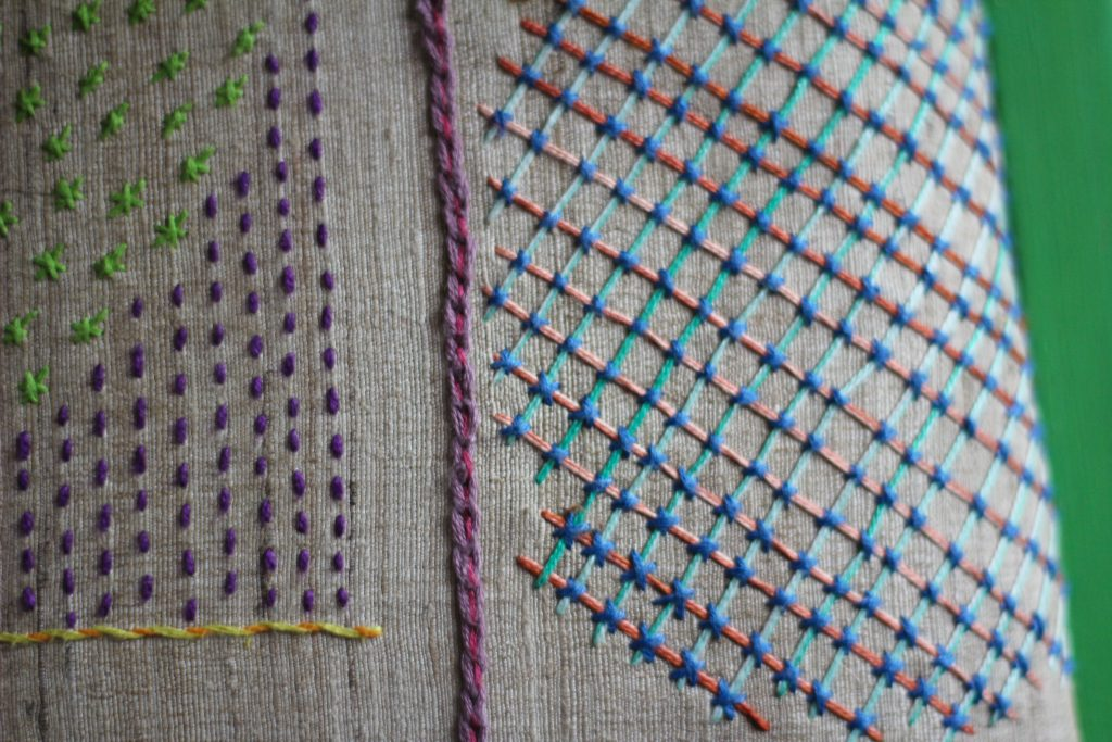 modern hand embroidery samplers craft diy upcycle