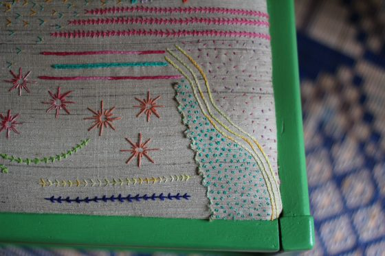 modern embroidered samplers how to hand embroider a chair