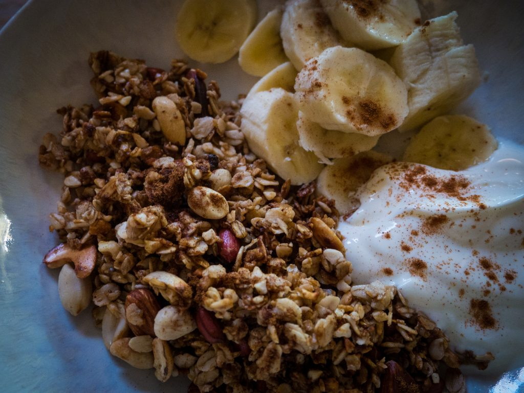 a simple vegan stove top granola recipe no refined sugar
