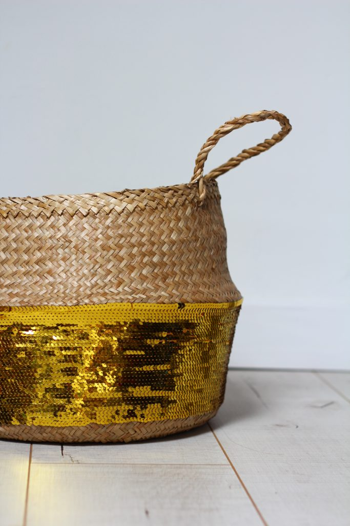 ikea hack sequin belly basket craft
