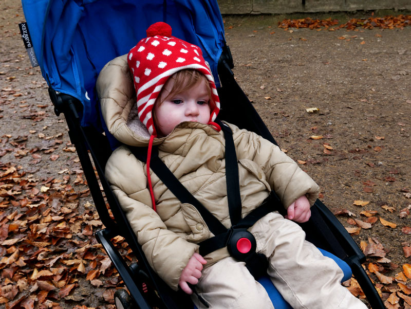 autumn day out with children in roundhay park
