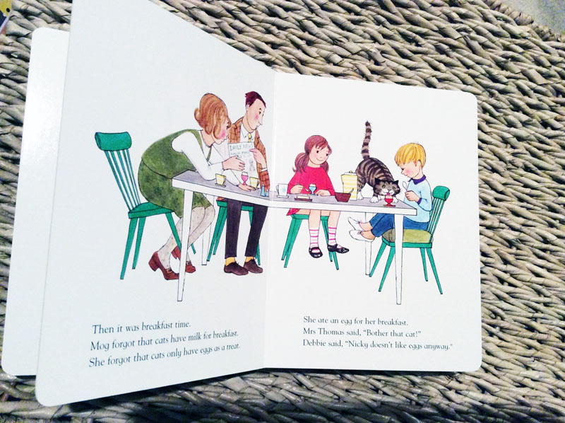 pages from Mog book green dining chairs interior design inspiration