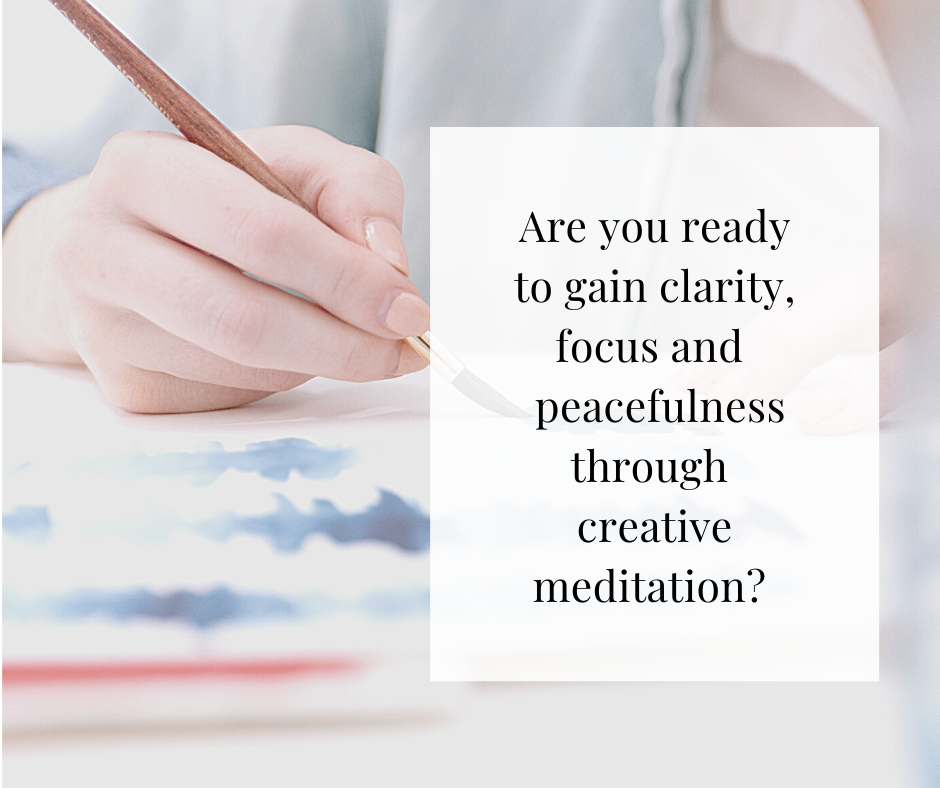 close up of creative meditation