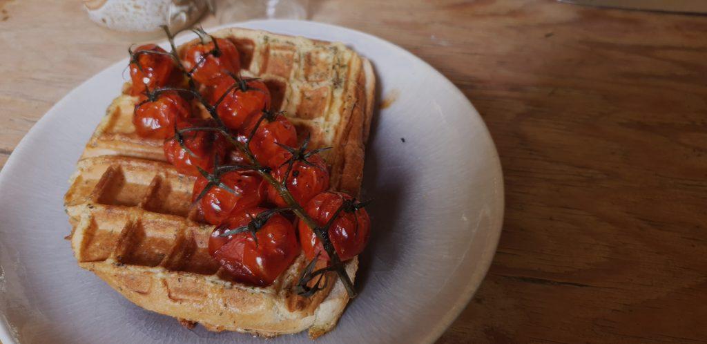 waffle sandwich brunch recipe