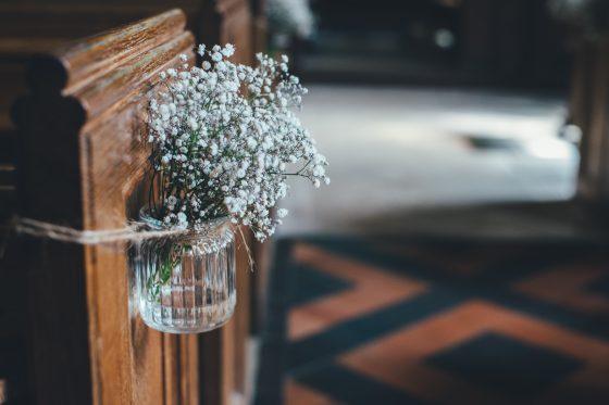 flowers in an old jar